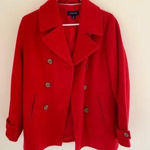 *RED* Lands End pea coat